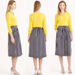 J. Crew Striped Knee High Skirt